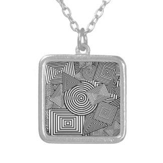 Collage geométrico de las formas (negro y blanco) grimpolas personalizadas