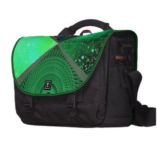 collage green laptop commuter bag