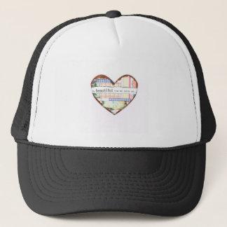 Collage Heart design, customise it Trucker Hat