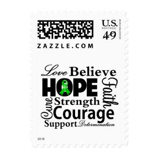 Collage hepático del cáncer de la esperanza sello