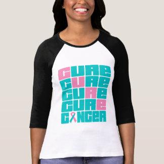 Collage hereditario del cáncer de pecho de la camisetas