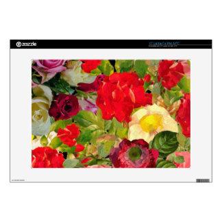 Collage hermoso brillante de la flor skins para 38,1cm portátiles