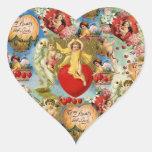 Collage hermoso de la querube del amor de la calcomanías de corazones
