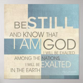 Collage II de la escritura del salmo Posters
