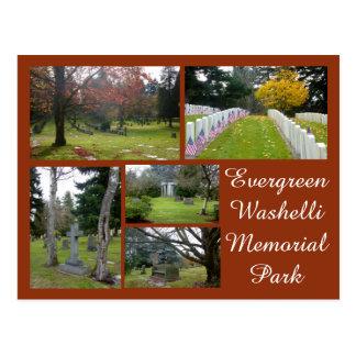 Collage imperecedero del cementerio de Washelli Postal