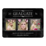Collage in Chalk Graduation Announcement