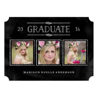 Collage in Chalk Graduation Invitation