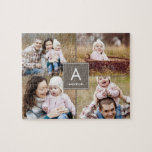 """Collage Initial Custom Photo Puzzle<br><div class=""""desc"""">Photo gifts make the best gifts! Easily personalized with your text and/or photo(s) for a custom look. Designed by Berry Berry Sweet. View more designs at www.berryberrysweet.com</div>"""