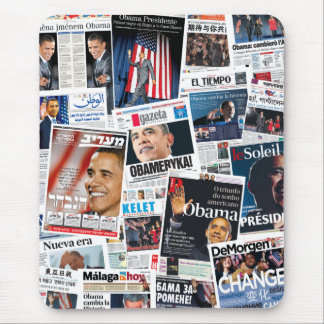Collage internacional de Front Page de la victoria Mouse Pad