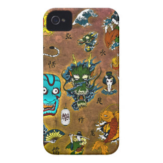 Collage japonés Case-Mate iPhone 4 protectores