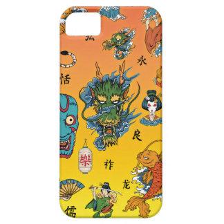 Collage japonés funda para iPhone SE/5/5s