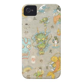 Collage japonés iPhone 4 carcasa