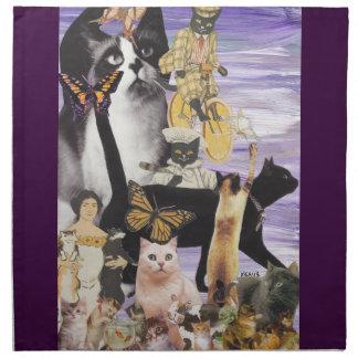 Collage lindo 4 del gato servilletas