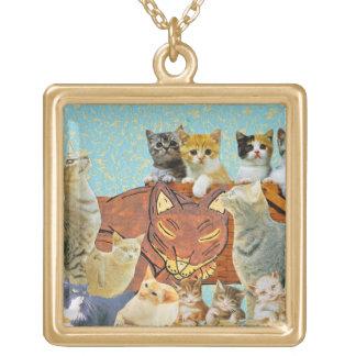 Collage lindo de los gatos 1 collar