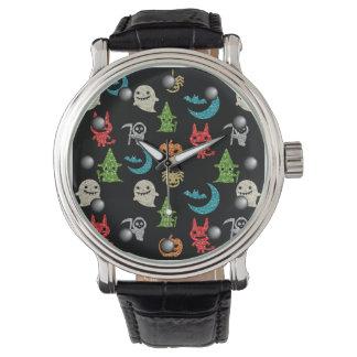 Collage lindo fantasmagórico del brillo de los reloj de mano