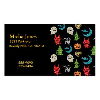 Collage lindo fantasmagórico del brillo de los tarjetas de visita