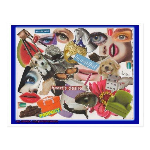 Collage loco #4 tarjetas postales