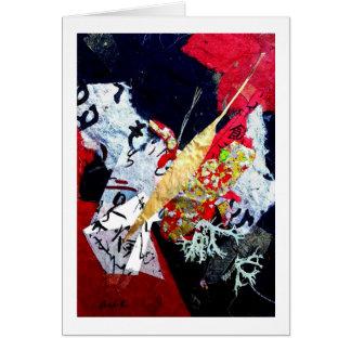 Collage loco, artista Andrea Erickson Tarjeta De Felicitación