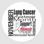 Collage - Lung Cancer Awareness Month Round Sticker