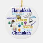 Collage/luz de Chanukah las luces Ornamento De Navidad