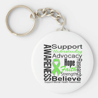 Collage - Mental Health Awareness Basic Round Button Keychain
