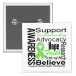 Collage - Mental Health Awareness 2 Inch Square Button