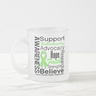 Collage - Mental Health Awareness Frosted Glass Coffee Mug