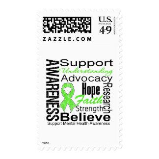 Collage - Mental Health Awareness Postage Stamp
