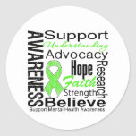 Collage - Mental Health Awareness Classic Round Sticker
