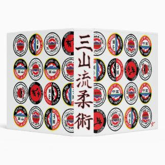 Collage Miyama Ryu Logos 3 Ring Binder