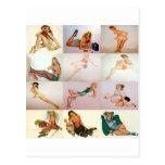 Collage modelo del vintage - 12 chicas magníficos  tarjetas postales