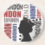 Collage moderno del viaje de Londres Posavasos Manualidades