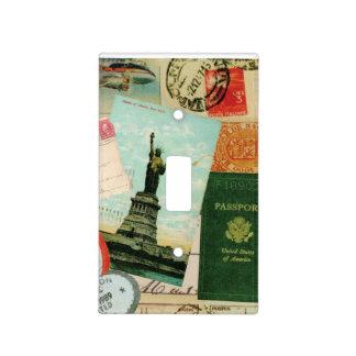 collage moderno del viaje del vintage tapas para interruptores