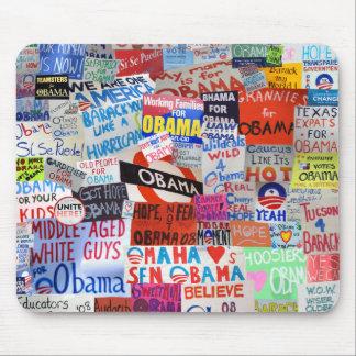 Collage Mousepad de la muestra de Obama