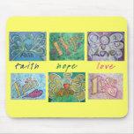 Collage Mousepad de la palabra del ángel del amor  Tapete De Ratones