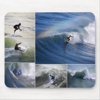 Collage Mousepad de las personas que practica surf Tapetes De Ratones