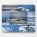 Collage Mousepad de las personas que practica surf Tapete De Ratones