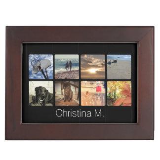 Collage multi de encargo de la imagen del mosaico cajas de recuerdos