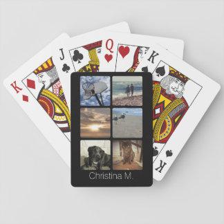 Collage multi de encargo de la imagen del mosaico cartas de póquer