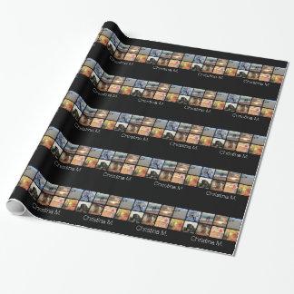 Collage multi de encargo de la imagen del mosaico papel de regalo