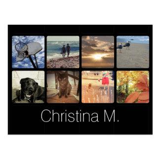Collage multi de encargo de la imagen del mosaico tarjetas postales