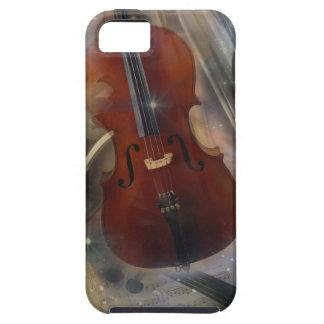 Collage musical imponente - violoncelo, flauta, funda para iPhone SE/5/5s