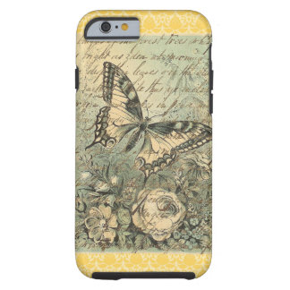 Collage natural de la mariposa del Victorian Funda De iPhone 6 Tough