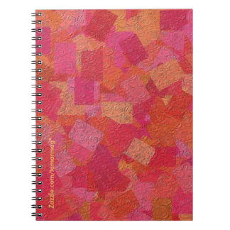 Collage Notebook in red, orange, gold, and pink