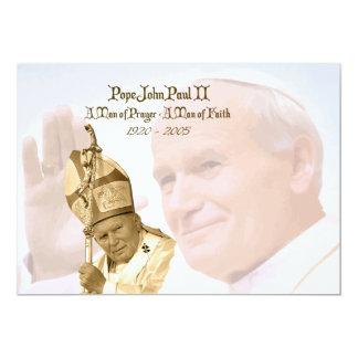 """Collage Notecards de Juan Pablo II Invitación 5"""" X 7"""""""