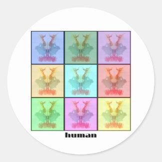 Collage nueve de Rors titulado Pegatina Redonda