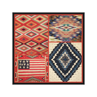 Collage OF 4  QUALITY NATIVE AMERICAN WEAVINGS Canvas Print