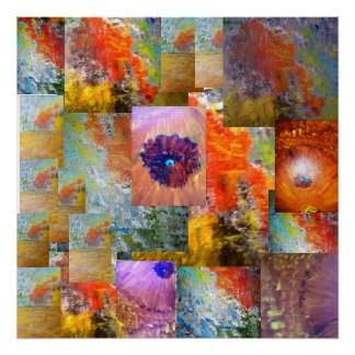 Collage Of Abstract Art Poster