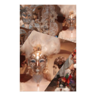 Collage of amazing masks in the Venice carnaval Stationery