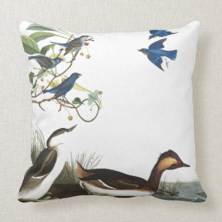 Collage of Birds Wildlife Audubon Throw Pillow